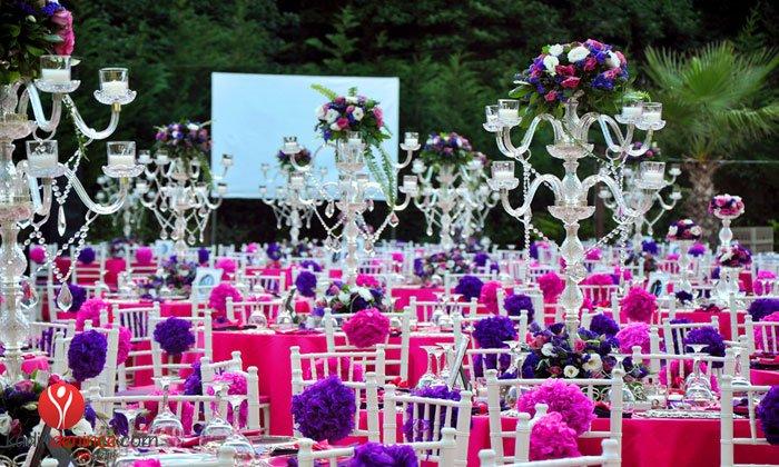 Düğün organizasyonu Süsleme fiyatları