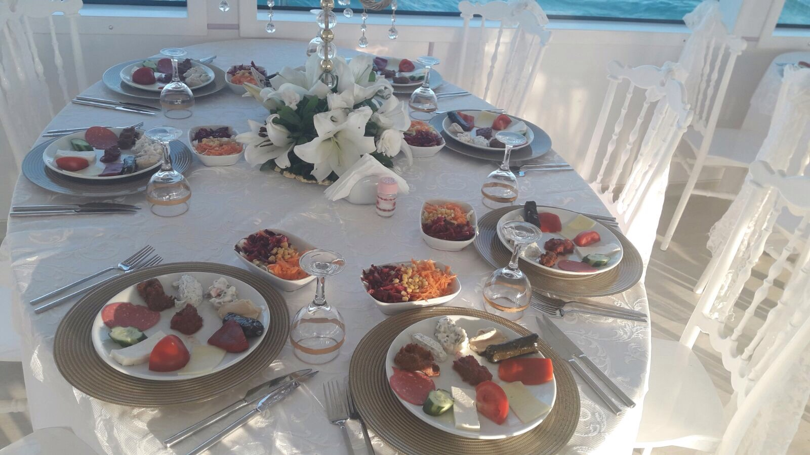 boat wedding catering in istanbul turkey