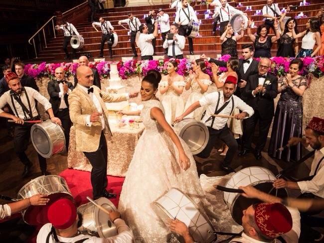 Arabic zaffa wedding